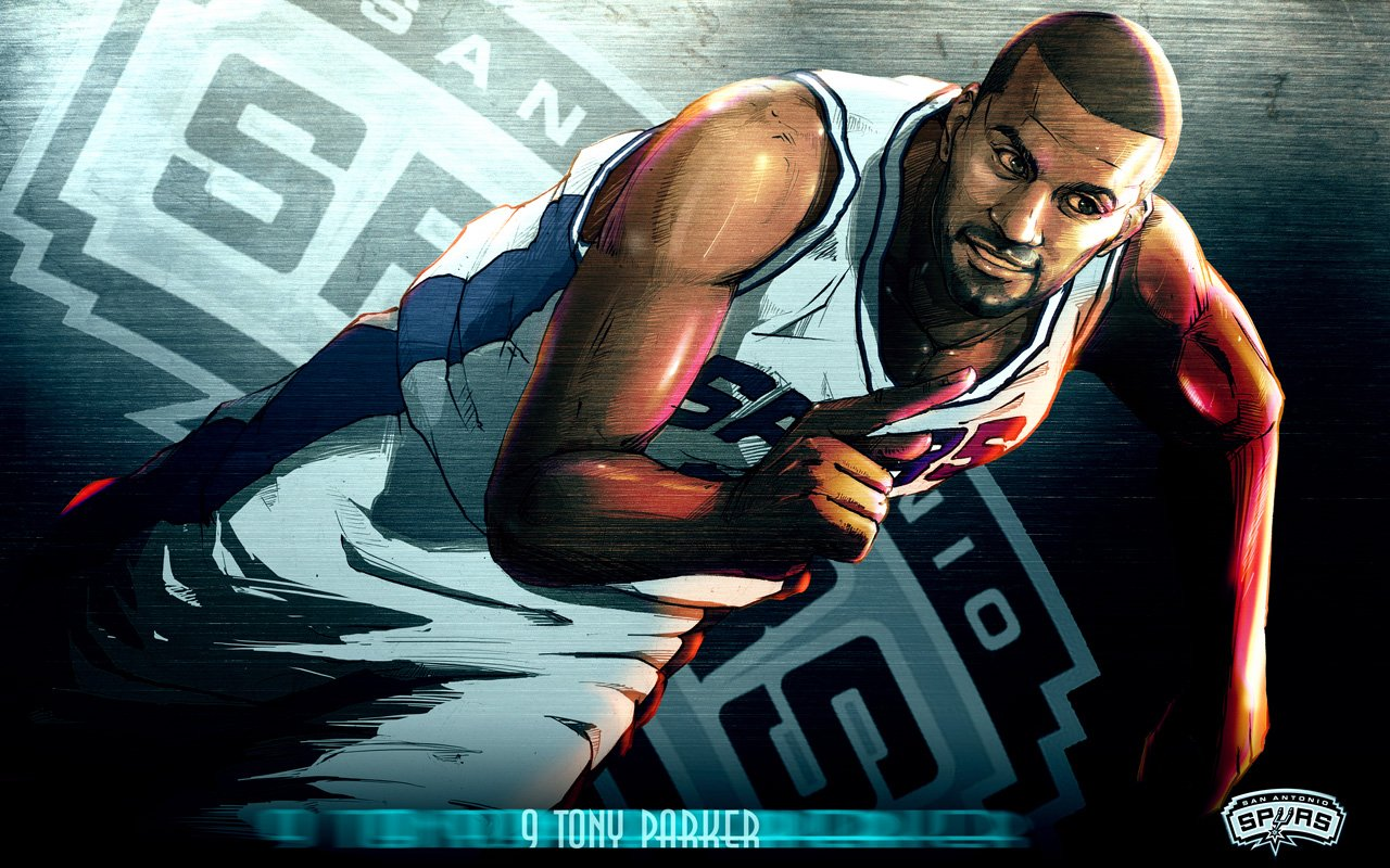 NBA 2009 10 San Antonio Spurs Players Cartoon Artworks  Personal Blog