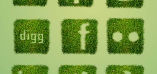 grass-textured-icon-set